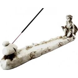 Porte Encens Résine Elfe avec champignon