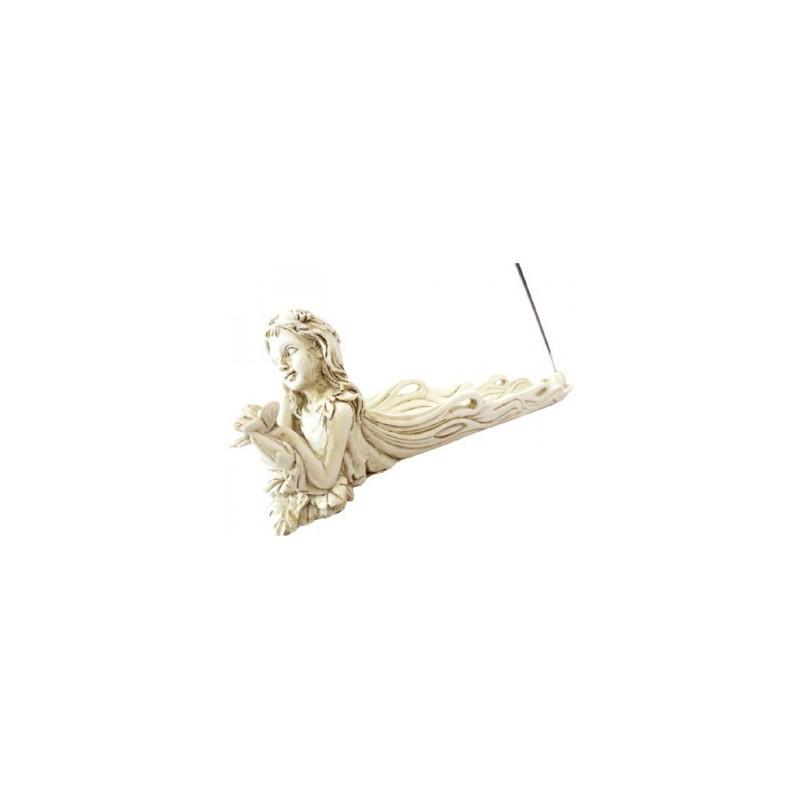 Porte Encens Résine Elfe avec Papillon