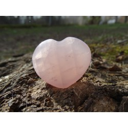 Quartz Rose Poli 31 Gr - Coeur