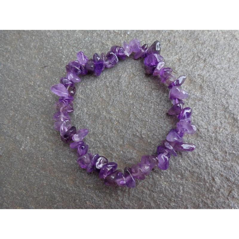 Améthyste - Bracelet baroque