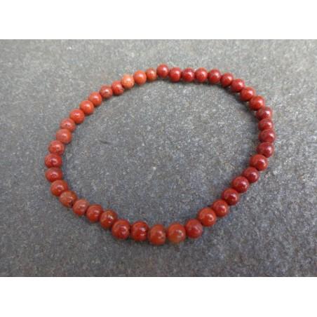 Jaspe Rouge - Bracelet - Perles rondes de 4mm