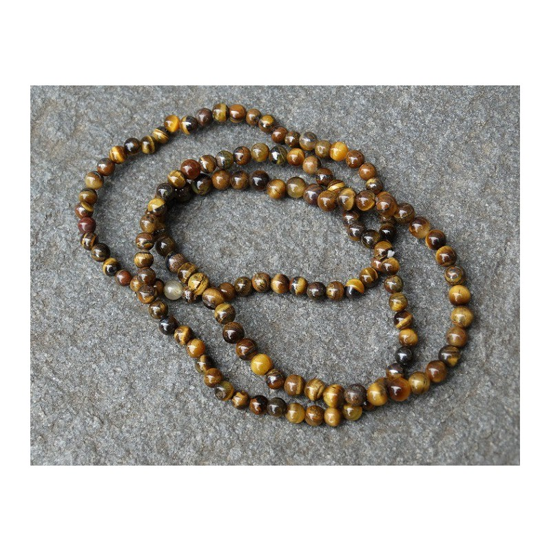 Oeil De Tigre - Bracelet - Perles rondes de 4mm
