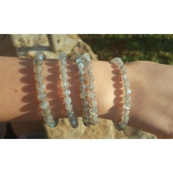 Labradorite - Bracelet 6mm - clair