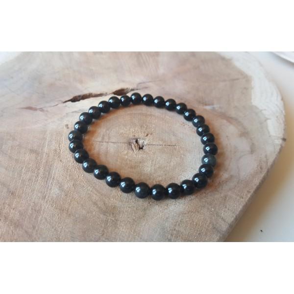 Bracelet Obsidienne Oeil Céleste 6mm