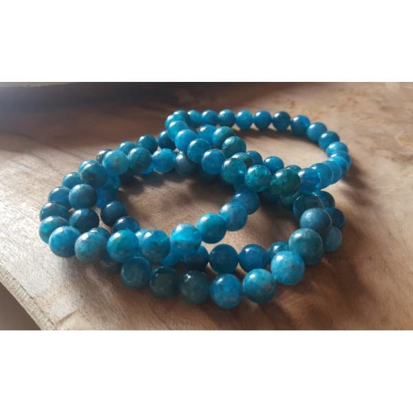 Apatite - Bracelet perles 8mm