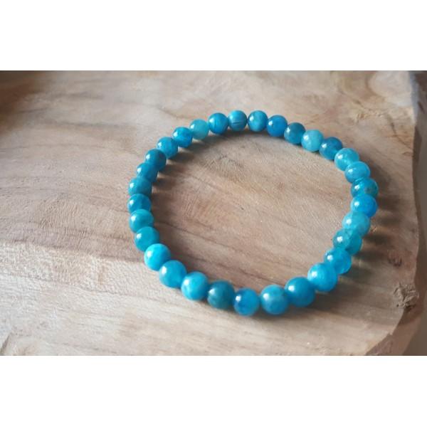 Apatite - Bracelet perles 6mm