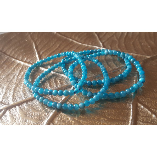 Apatite - Bracelet perles 4mm