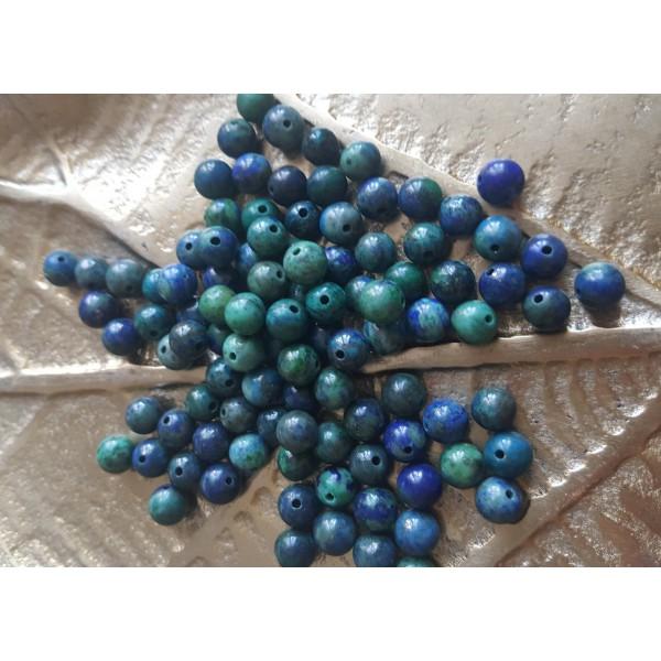 Azurite Malachite - perle de 6mm
