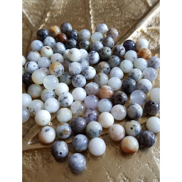 Agate Dendritique (Merlinite) - perle de 6mm