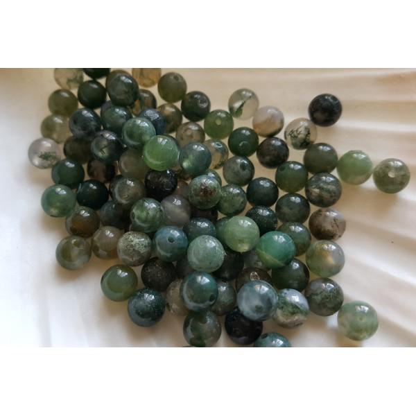 Agate Mousse - perle de 6mm