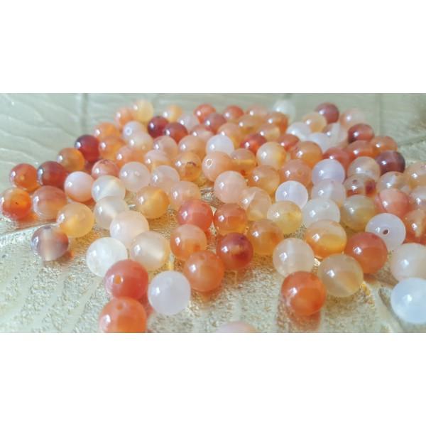 Cornaline naturelle - perle de 8mm