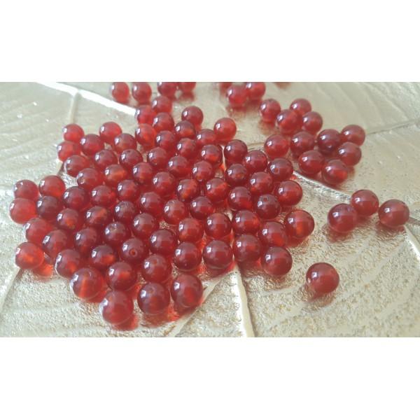 Cornaline unie - perle de 8mm