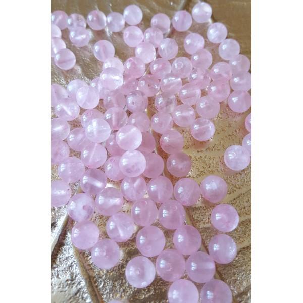 Quartz Rose - perle ronde de 8mm
