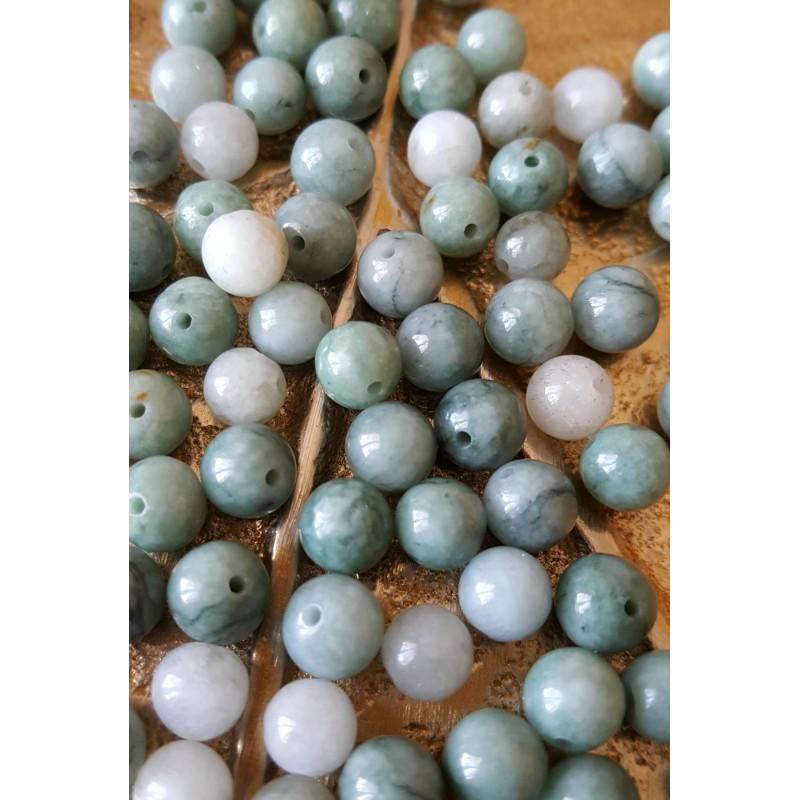 Jade de Birmanie - perle ronde de 6mm