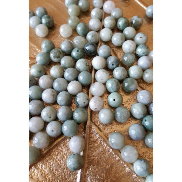 Jade de Birmanie - perle ronde de 8mm