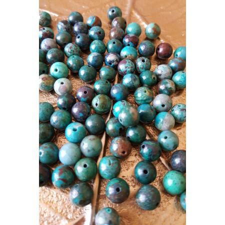 Chrysocolle - perle ronde de 8mm
