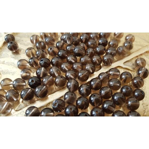 Quartz Fumé - perle ronde de 6mm