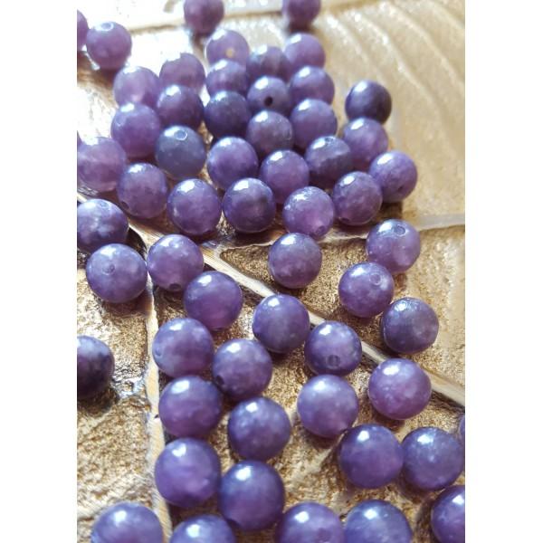Lépidolite - perle de 6mm
