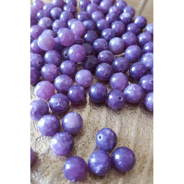 Lépidolite - perle de 8mm
