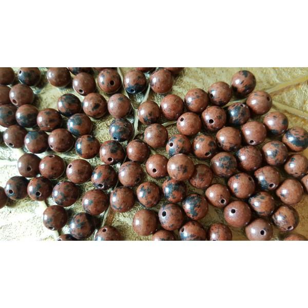 Obsidienne acajou - perle de 8mm