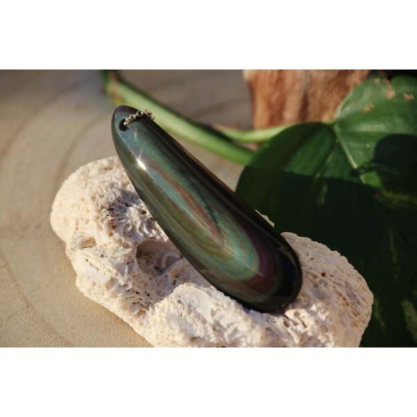 Pendentif Obsidienne Oeil Céleste Polie 21 Gr