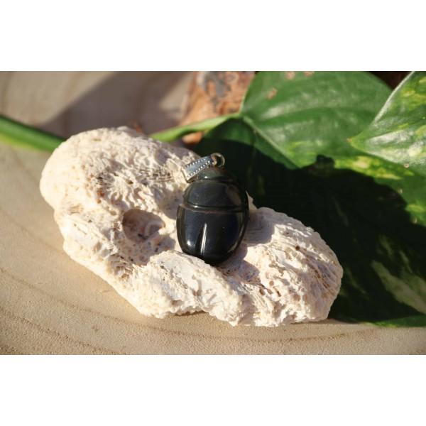 Pendentif Obsidienne Oeil Céleste Polie 8 Gr