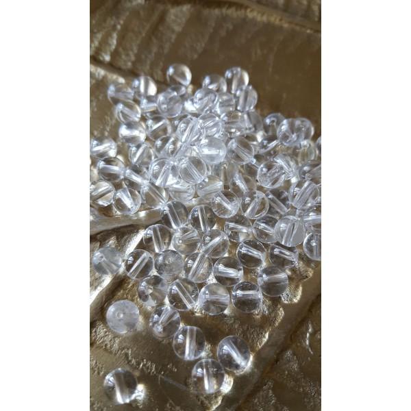 Cristal de Roche - perle ronde 6mm
