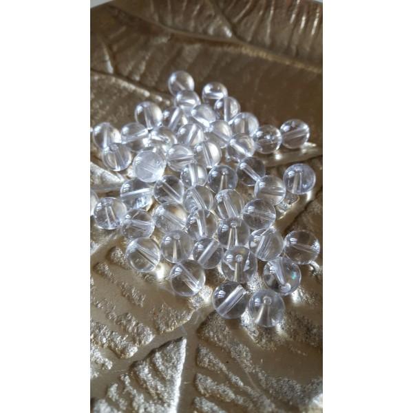 Cristal de Roche - perle ronde 8mm