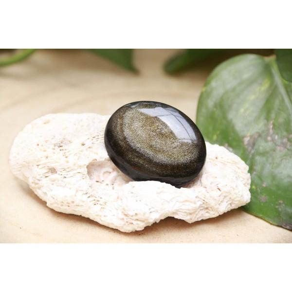 Obsidienne Dorée polie 20 grs