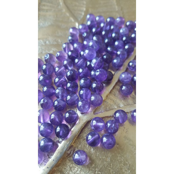 Améthyste - perle 6mm