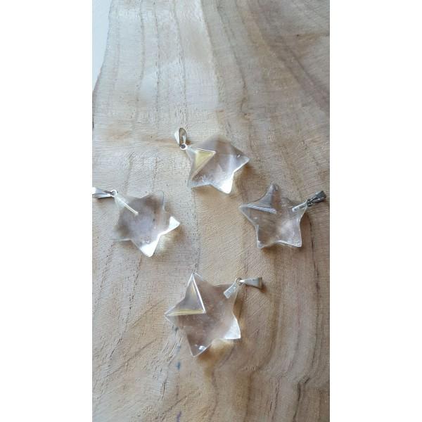 Pendentif Cristal de Roche étoile