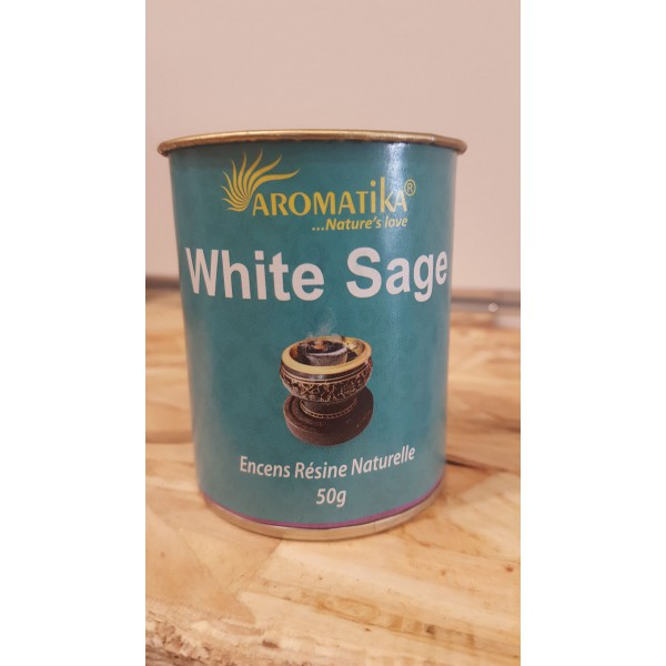 Encens résine naturelle WHITE SAGE - Aromatika