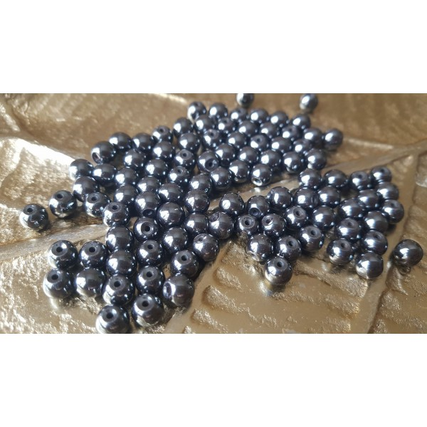 Hématite - perle 6 mm