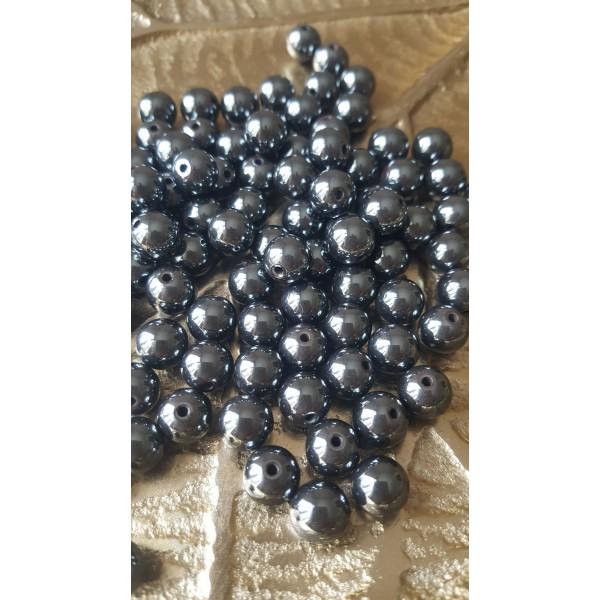 Hématite - perle 8 mm