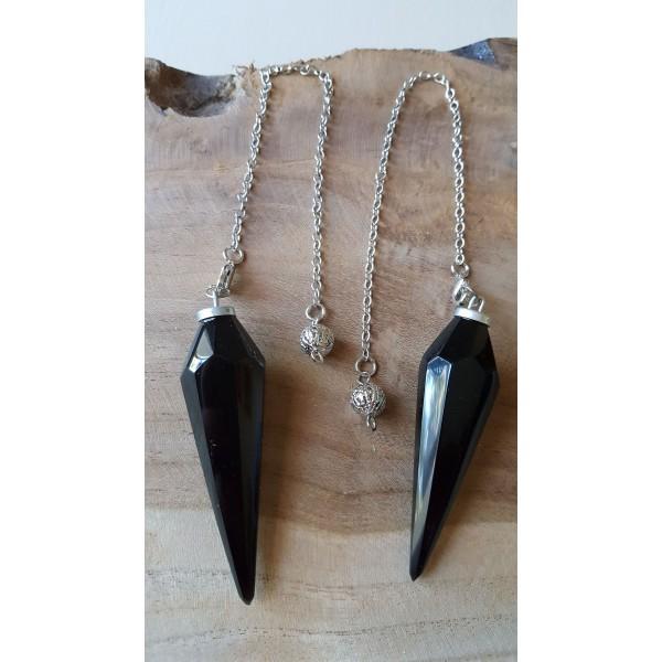 Pendule Obsidienne Oeil Céleste - facetté