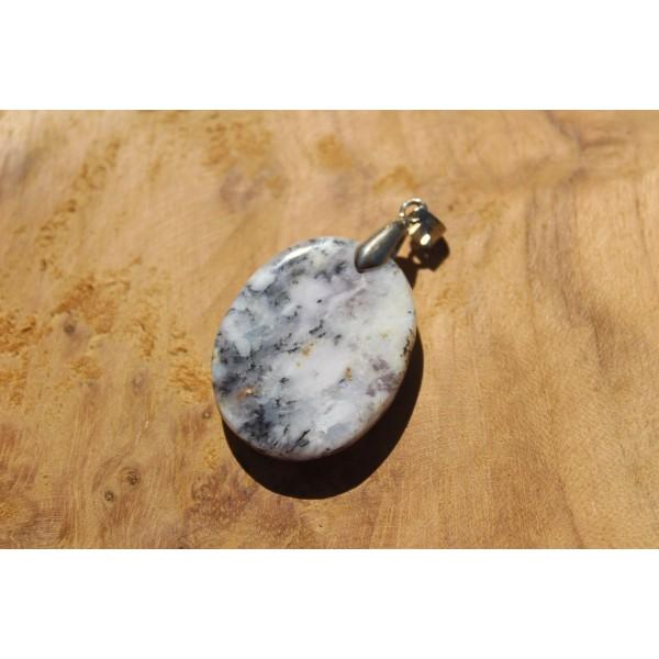 Agate Dendritique (Merlinite) - Pendentif 11 Gr