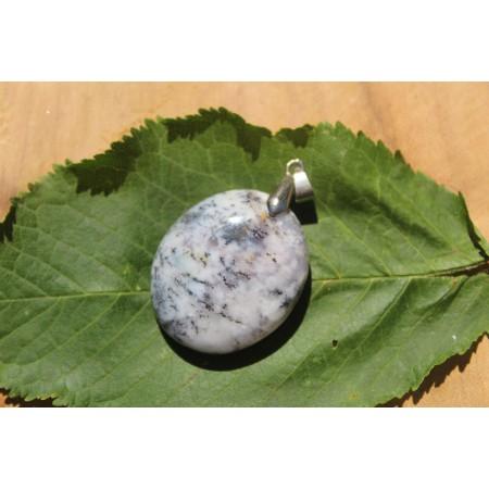 Agate Dendritique (Merlinite) - Pendentif 16 Gr