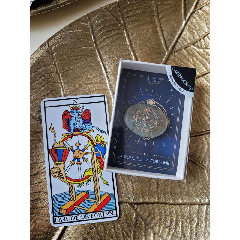 "Galet Labradorite - arcane tarot ""La Roue de Fortune"""