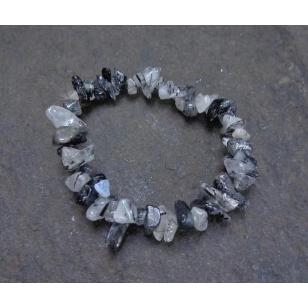 Inclusions de Tourmaline Noire - Bracelet Baroque